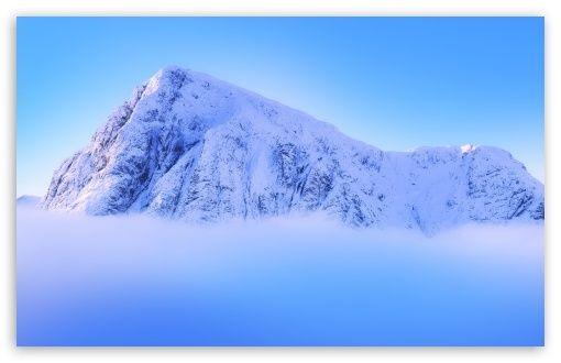Download Snowy Mountain Peak Above Clouds Hd Wallpaper Snowy