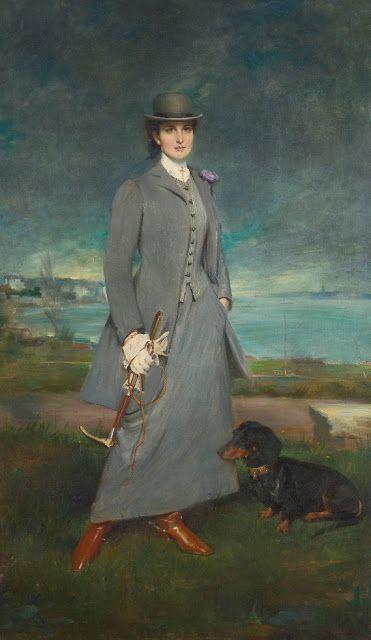 Portrait of Countess de la Maitrie in Equestrian Dress  Charles Albert Walhain  2x posted: