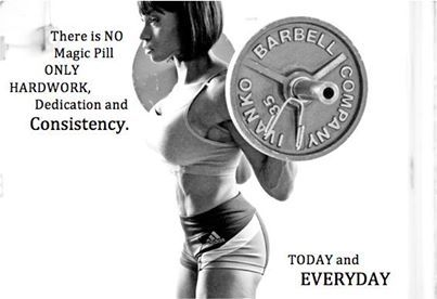There is no magic pill, only hard work, dedication, and consistency. Today and EVERYDAY. #beFit http://www.qualiproducts.com