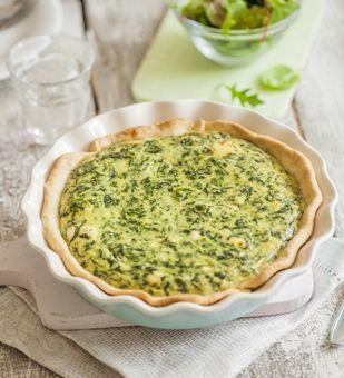 Einfach Hausgemacht - Quiche Lorraine mit Spinat und Ziegenkäse