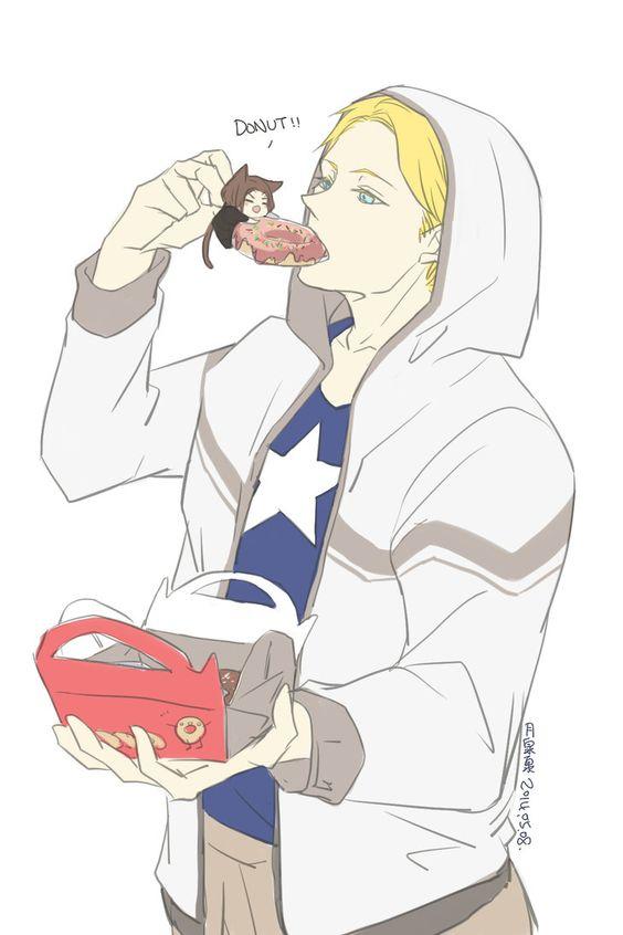 Bucky and Steve - Donut!!