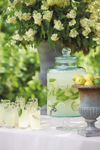 I like the dispenser. Perfect Punch; Drinks Table (BridesMagazine.co.uk)