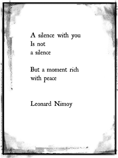 A silent moment.