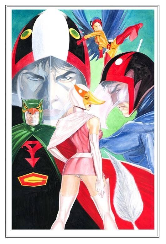 5人の特徴を表した科学忍者隊ガッチャマンのかっこいい画像。