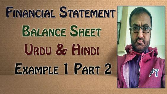 Financial Statement Balance Sheet Part 2 Accounting - balance sheet preparation examples