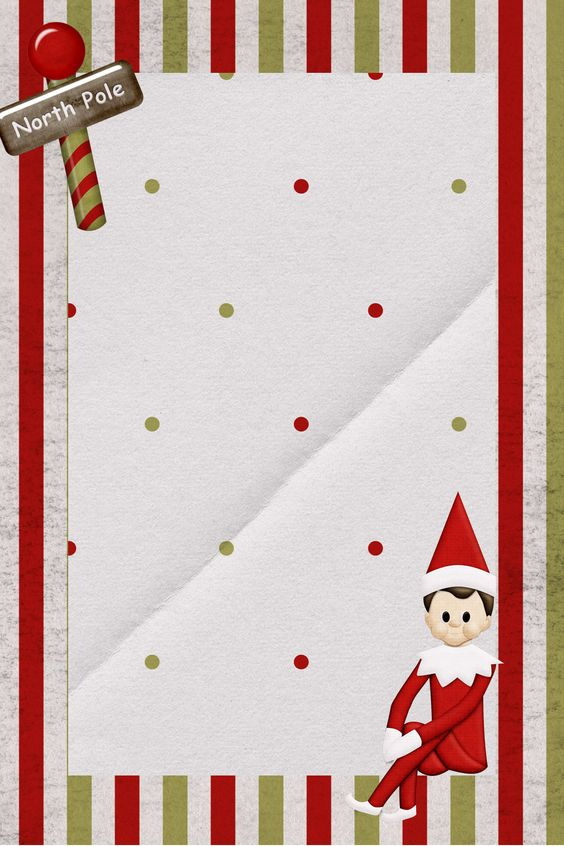 0f0b291b0b6e0a6717d77490eaffc0b6 Elf On Shelf Arrival Letter Template Blank on am late, santa first time,