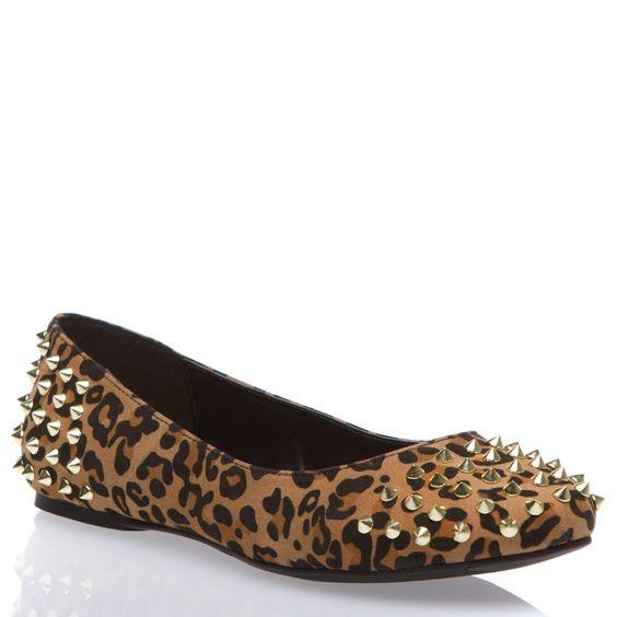 velvety leopard-print flats