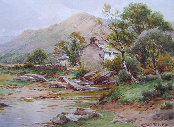 Harry Sticks painting: On the Duddon, Lake District