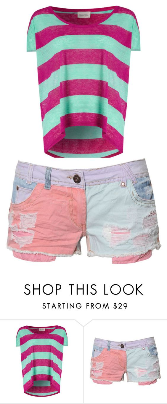 """""""Untitled #1"""" by haaanaya ❤ liked on Polyvore featuring American Vintage and short cute"""