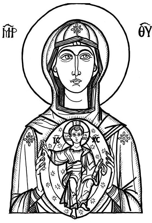 Icon Of Mary Coloring Pages 2 Jpg 529 215 775 Icon Line