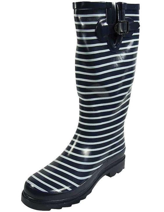 SunVille Women's Ditsy Dots Rubber Rainboot and GardenBoot,7 B(M) US,DITSY DOTS COLOR