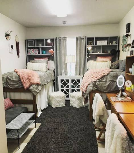 27 Dorm Rooms That Will Inspire Your Bedroom Makeover This Year Dorm Room Designs College Dorm Room Decor College Bedroom Decor