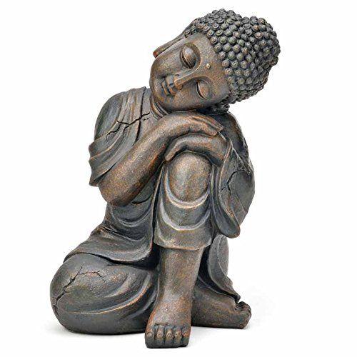 Deko Asien Garten BUDDHA Figur Statue Skulptur FENG SHUI 32 cm