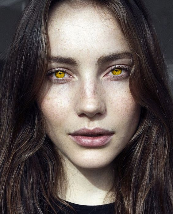 Gold Eyes Gold Eyed Woman Gold Eye Girl Yellow Eyes