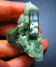 69.05CT Green Diopside Crystal With Albeit Specimen Minerals...