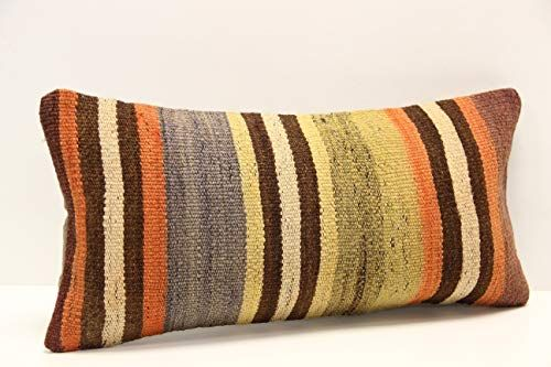 16 x 28 inches Vintage,Handmade,Handwoven,Natural,Home Decor,Interior,Turkey Old Kilim Pillow Cover