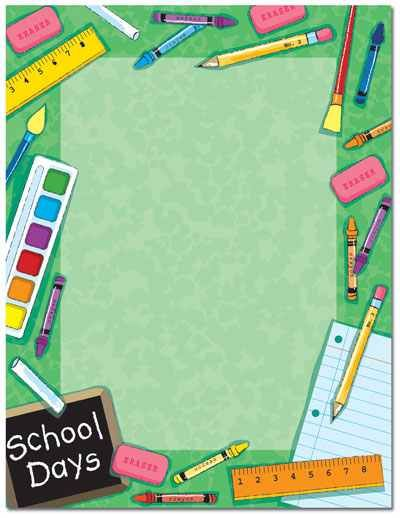 Welcome back to school page borders drawing and coloring for Landscape design paper