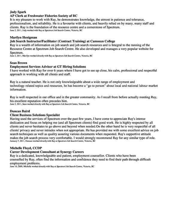 Page 1 of 2 page resume Ray Resume and Recommendations Pinterest - busboy resume sample