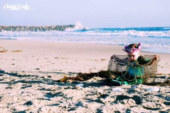 Mermaid baby. Costume by me. Taken in Oceanside, CA by Letty Kitchen