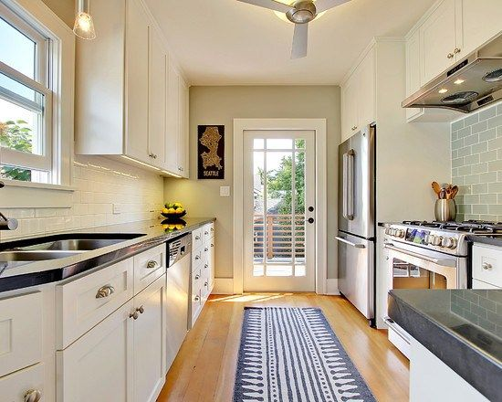 Galley Kitchens Narrow Kitchen And Decorating Ideas On Pinterest