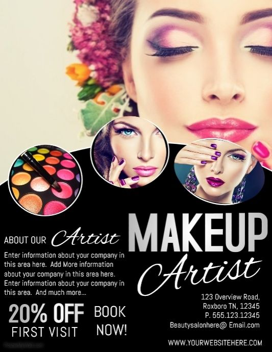 A Free Online Promotional Graphics And Video Editor Thousands Of Templates And Stock Photos And Videos High Beauty Salon Posters Makeup Poster Makeup Salon