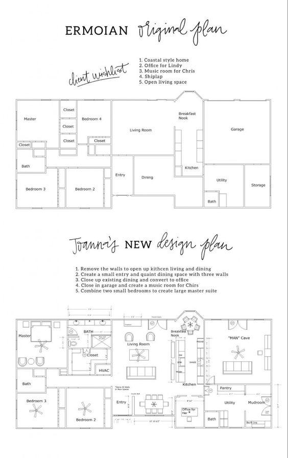 Fixer Upper Season 3 Floor Plans Room Layouts Pinterest