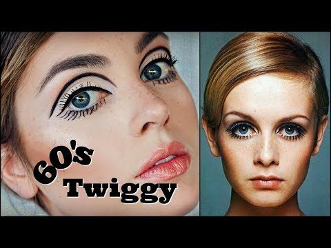 Twiggy 60s Makeup Tutorial Mod Graphic Liner Eyelashes 1960s