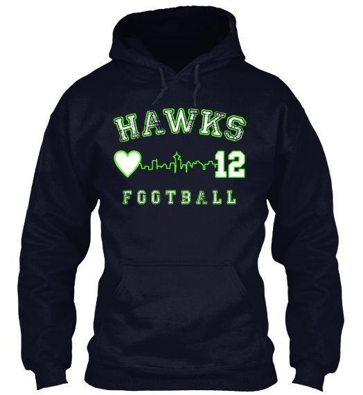 Just got my 12th Woman Loves Hawks Football hoodie