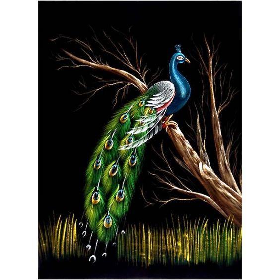 The Beauty of Jungle - Velvet Painting: