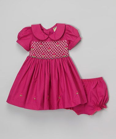 This Fuchsia Smocked Dress Set - Infant & Toddler is perfect! #zulilyfinds