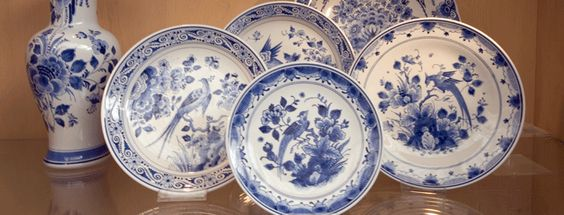 I love Delftware.                                         - Delftware refers to the blue and white pottery made in and around Delft in the Netherlands, circa 16th century.