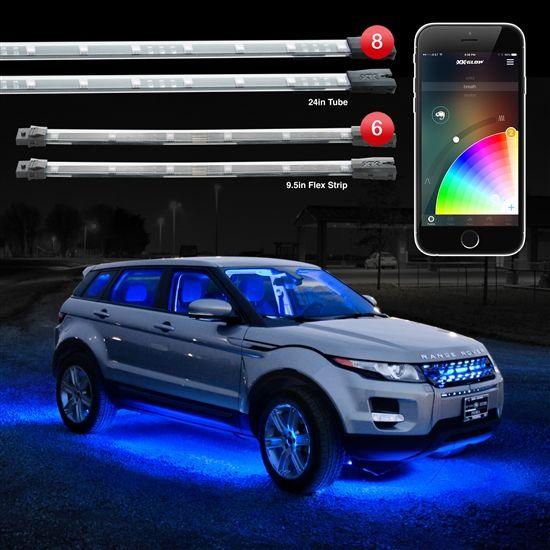 8pc 24 Under Glow 6pc 10 Flexible Strip Xkchrome App Control