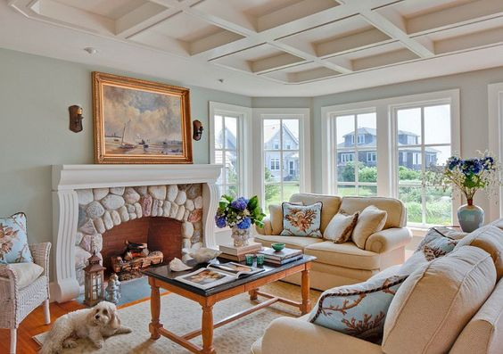 Living Room. Great Coastal Living Room Design. #LivingRoom #LivingRoomDecor #LivingroomDesign: