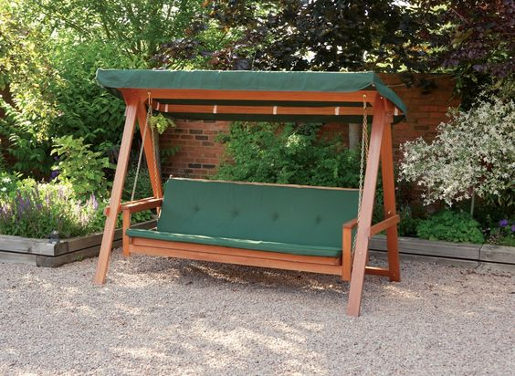 Outdoor swing living garden furniture garden swings seats baharu wooden swing bed stuff to Wooden swing seats garden furniture