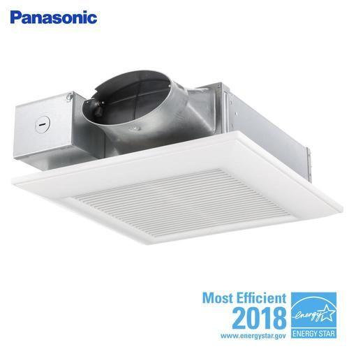 Panasonic Whispervalue 0 3 Sone 100 Cfm White Bathroom Fan Energy Star At Lowe S Whispervalue Dc Is The Lowest Profil Bathroom Fan Ventilation Fan Energy Star