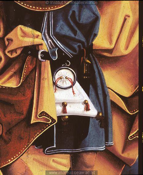 detail from Hl. Christophorus: Kunstwerk: Malerei-Holz ; Einrichtung sakral ; Flügelaltar-Sonntagsseite ; Astl-Umkreis  Dokumentation: 1480 ; 1500 ; Gschwandt ; Österreich ; Oberösterreich ; Pfarrkirche Hl. Katharina  Anmerkungen: 65x30 ; Gschwandt ; Gotische Plastiken und Gemälde in der Pfarrkirche Gschwandt bei Gmunden, in: Christliche Kunstblätter 66 (1925), 41-48: