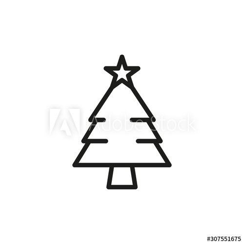 Simple Christmas Tree Line Icon Ad Christmas Simple Tree Icon Line Ad In 2020 Graphic Design Layouts Line Icon Simple Christmas