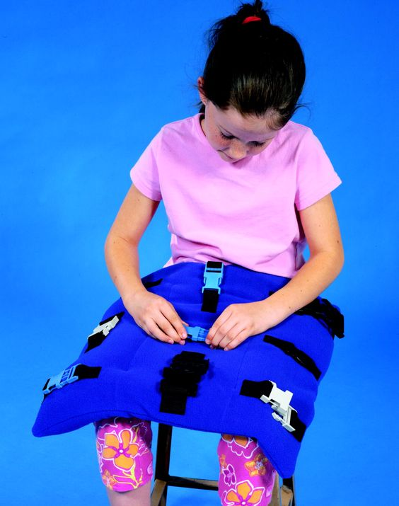 Abilitations Clip-Clip Weighted Soft Fleece Pad with Clips - 15 x 12 inches
