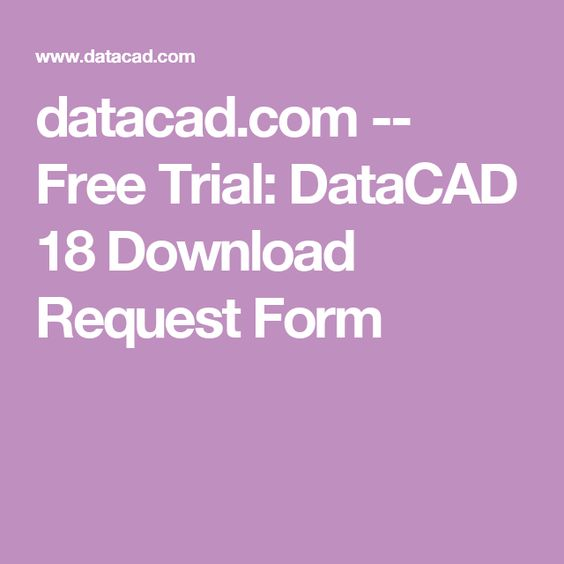 datacad -- Free Trial DataCAD 18 Download Request Form - material request form