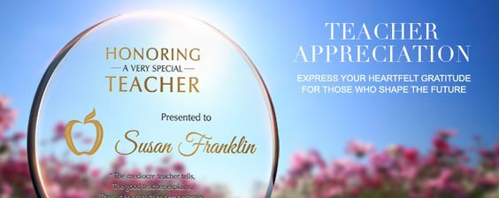 Teacher Appreciation Wording Ideas and Sample Layouts | DIY Awards