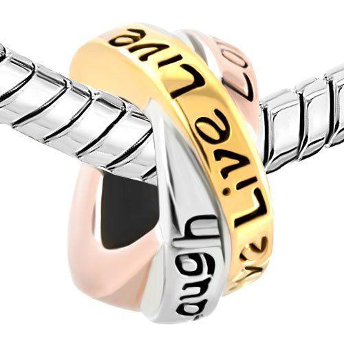 Amazon.com: Live Love Laugh Pugster Trinity Ring Charm Bead Fit Pandora Bracelet: Pugster: Jewelry