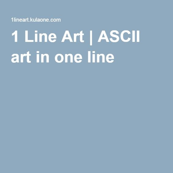 One Line Ascii Art Kiss : Ascii art line and on pinterest