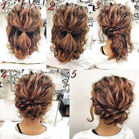 Haircuts For Short Curly Hair Hair Hairtyles Curly Updos Bob Hair Curly Hair Hairtyles Bob Shorthairstyl Short Hair Updo Short Hair Tutorial Hair Styles