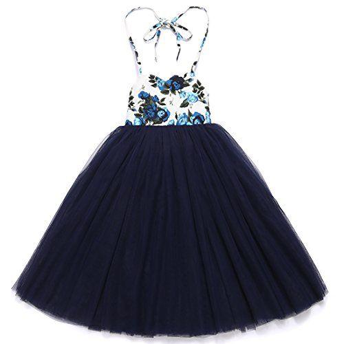 Flofallzique Baby Girls Dress Toddler Tutu Infant Floral Sundress Tulle Wedding Dress