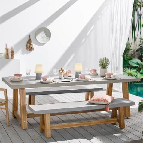 Outdoor Tisch Beton Outdoor Tisch Gartentisch Betonoptik Gartentisch