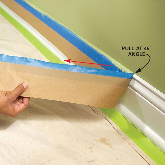 Remove Peeling Paint Bathroom Wall: Painters, Tape And How To Remove On Pinterest