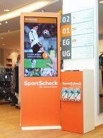 invidis digital signage explorer München SportScheck