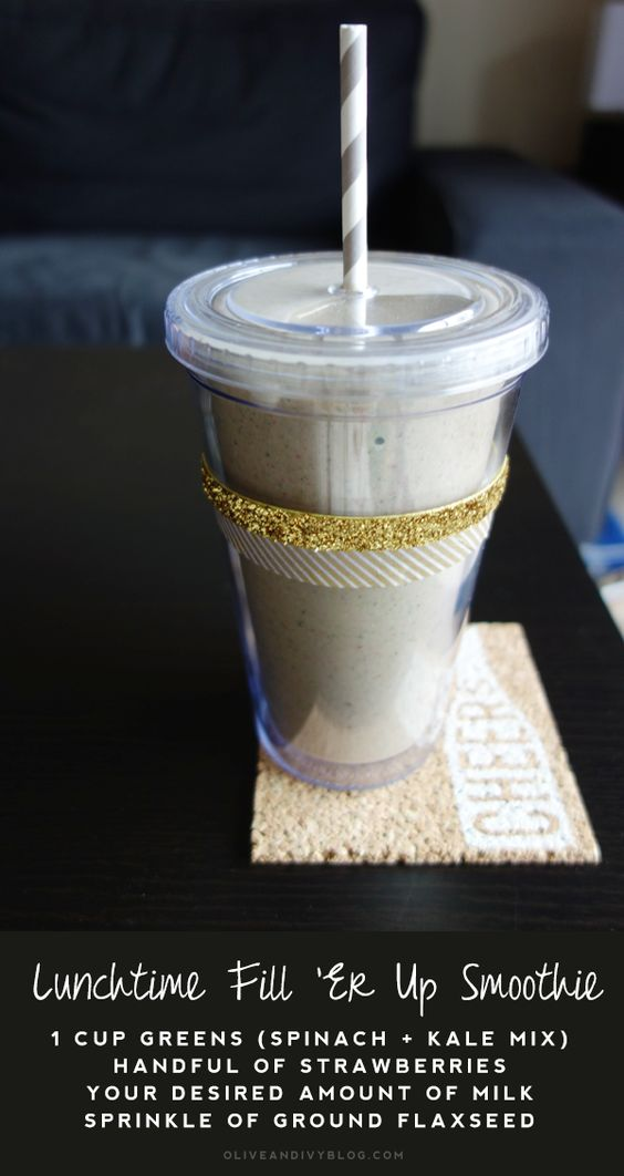 Healthy Lunch Smoothie by Olive and Ivy