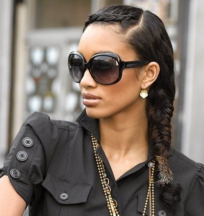 Astonishing Black Braids Braid Hairstyles And Braids On Pinterest Hairstyle Inspiration Daily Dogsangcom