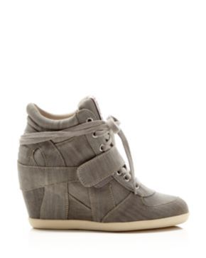 Ash Bowie Lace Up High Top Wedge Sneakers